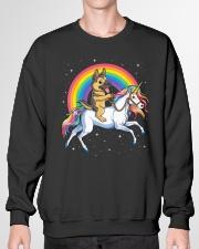 German Shepherd Unicorn T shirt Girl Space Galaxy Crewneck Sweatshirt garment-crewneck-sweatshirt-front-01
