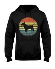 Bull Terrier Lover Owner Gifts Retro Sunset Dog Hooded Sweatshirt front
