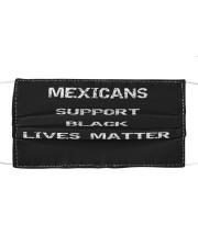 Mexicans Black Lives Matter Cloth face mask thumbnail