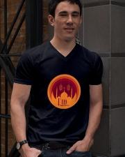 EID MUBARAK Muslim Holidays Celebration V-Neck T-Shirt lifestyle-mens-vneck-front-2