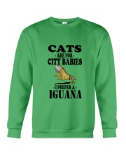CATS ARE FOR CITY BABIES I PREFER A IGUANA Crewneck Sweatshirt thumbnail