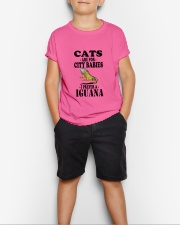 CATS ARE FOR CITY BABIES I PREFER A IGUANA Youth T-Shirt lifestyle-youth-tshirt-front-1