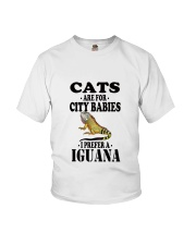 CATS ARE FOR CITY BABIES I PREFER A IGUANA Youth T-Shirt tile