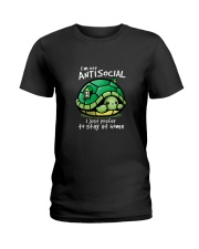 I'M NOT ANTISOCIAL I JUST PREFER TO STAY AT HOME Ladies T-Shirt thumbnail