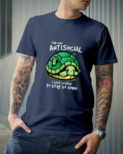 I'M NOT ANTISOCIAL I JUST PREFER TO STAY AT HOME Classic T-Shirt lifestyle-mens-crewneck-front-6