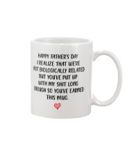 Funny Step Dad Fathers Day Mug Mug front