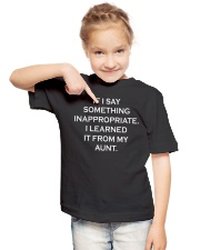 I learned it from my aunt kid tee Youth T-Shirt lifestyle-youth-tshirt-front-2