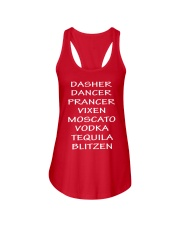 Dasher Dancer Funny Christmas Ladies Flowy Tank thumbnail