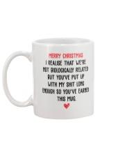 Funny Step Dad Christmas Gift Mug Mug back