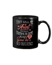 They Call Me Aunt Because Partner In Crime Shirt Mug thumbnail