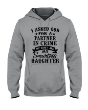 I ASKED GOD FOR A PARTNER IN CRIME Hooded Sweatshirt thumbnail