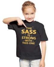 The sass is strong with this one  Youth T-Shirt lifestyle-youth-tshirt-front-2
