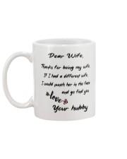 DEAR WIFE FUNNY GIFT MUG Mug back