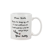 DEAR WIFE FUNNY GIFT MUG Mug front