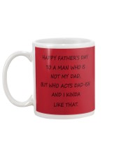 Funny Step Dad Fathers Day Mug Mug back