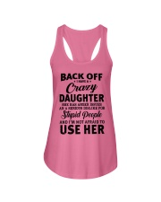 BACK OFF I HAVE CRAZY DAUGHTER Ladies Flowy Tank thumbnail