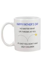 Funny Step Dad Fathers Day Mug Mug back