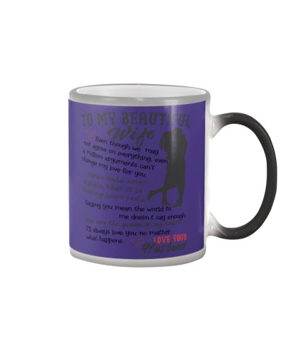 TO MY BEAUTIFUL WIFE COLOR CHANGING MUG