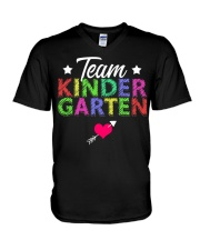 Team Kindergarten Shirt Teacher Student T-Shirt V-Neck T-Shirt thumbnail