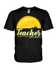 Teacher Off Duty T-Shirt V-Neck T-Shirt thumbnail