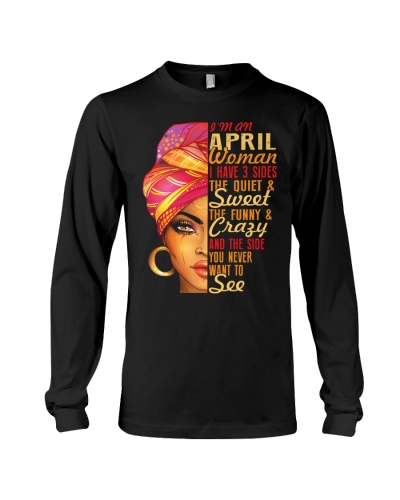 I'm An April Queen I Have 3 Sides Birthday Gift