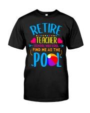 Teacher Retirement Gift School T-Shirt Classic T-Shirt front