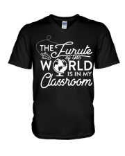 The Future Of The World Teacher T-Shirt V-Neck T-Shirt thumbnail