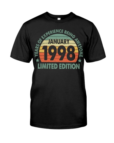 Made In January 1998 Vintage 22th T-Shirt
