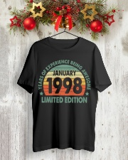 Made In January 1998 Vintage 22th T-Shirt Classic T-Shirt lifestyle-holiday-crewneck-front-2