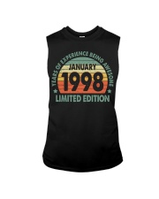 Made In January 1998 Vintage 22th T-Shirt Sleeveless Tee thumbnail