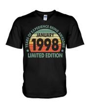 Made In January 1998 Vintage 22th T-Shirt V-Neck T-Shirt thumbnail