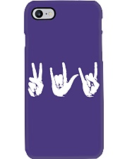 Love Peace Rock - Embroidery artwork Phone Case thumbnail