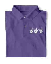 Love Peace Rock - Embroidery artwork Classic Polo front