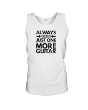 Always Could Use Just One More Guitar - Black Unisex Tank thumbnail