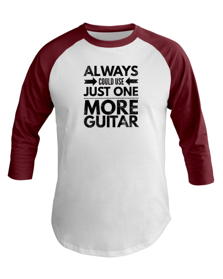 Always Could Use Just One More Guitar - Black Baseball Tee