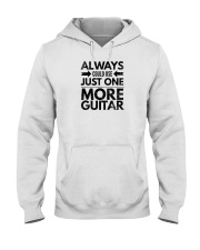 Always Could Use Just One More Guitar - Black Hooded Sweatshirt thumbnail