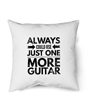"""Always Could Use Just One More Guitar - Black Indoor Pillow - 16"""" x 16"""" thumbnail"""