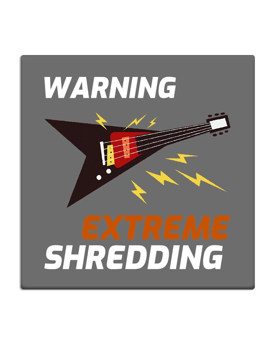 Warning Extreme Shredding Square Coaster