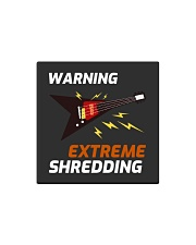 Warning Extreme Shredding Square Magnet thumbnail