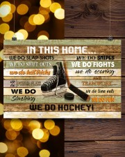 IN THIS HOME WE DO HOCKEY 24x16 Poster aos-poster-landscape-24x16-lifestyle-30