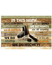 IN THIS HOME WE DO HOCKEY 24x16 Poster front