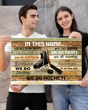IN THIS HOME WE DO HOCKEY 24x16 Poster poster-landscape-24x16-lifestyle-21