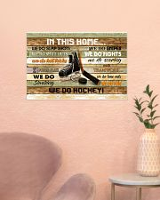 IN THIS HOME WE DO HOCKEY 24x16 Poster poster-landscape-24x16-lifestyle-23