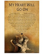 CAT MY HEART WILL GO ON 11x17 Poster front