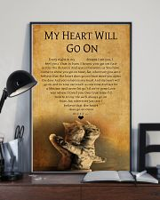 CAT MY HEART WILL GO ON 11x17 Poster lifestyle-poster-2