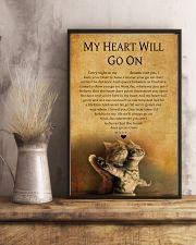 CAT MY HEART WILL GO ON 11x17 Poster lifestyle-poster-3