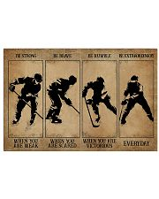 Strong When You Are Weak Hockey 24x16 Poster front
