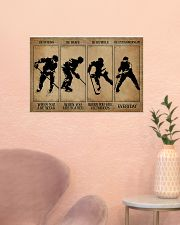 Strong When You Are Weak Hockey 24x16 Poster poster-landscape-24x16-lifestyle-23