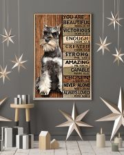 YOU ARE BEAUTIFUL MINIATURE SCHNAUZE 11x17 Poster lifestyle-holiday-poster-1