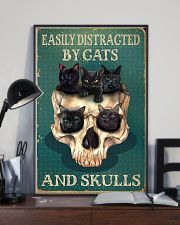 EASILY DISTRACTED BY CATS AND SKULLS 11x17 Poster lifestyle-poster-2